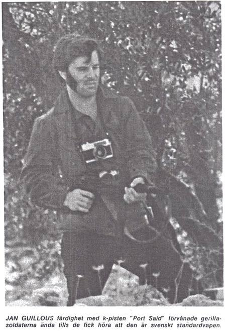 Jan Guillou med k-pist m/45